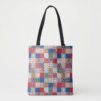 Pretty Quilt All-Over-Print Tote Bag
