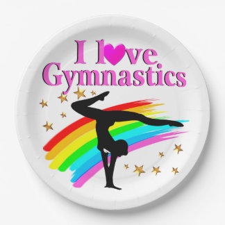 PRETTY RAINBOW GYMNASTICS CHAMPION PAPER PLATE