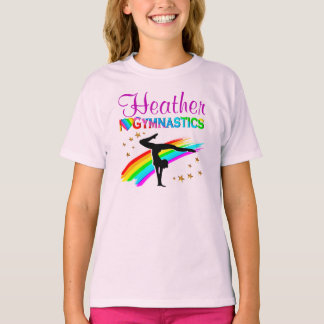 PRETTY RAINBOW I LOVE GYMNASTICS TEES AND APPAREL