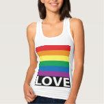 Pretty Rainbow Love, Pride, LGBT, Celebrate Love Tank Top