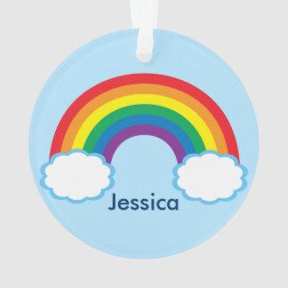 Pretty Rainbow Personalized Ornament