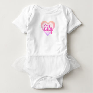 Pretty Rainbow Pink Heart Customisable Tutu Vest Baby Bodysuit