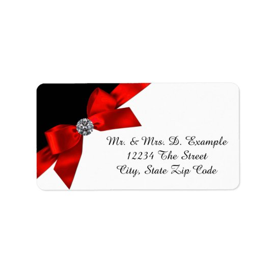 Pretty Red and Black Address Labels