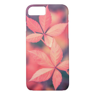 Pretty Red Autumn Star Leaves Nature Case