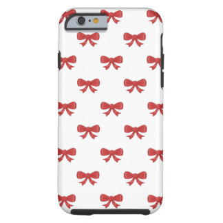 Pretty red bow pattern. tough iPhone 6 case