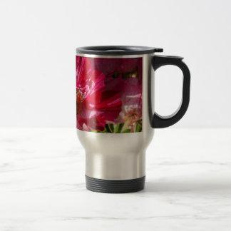 Pretty Red Flower Stainless Steel Travel Mug