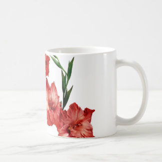 PRETTY RED GLADIOLUS COFFEE MUG