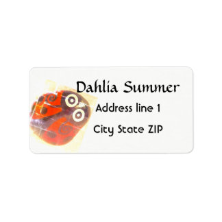 Pretty Red Ladybug address labels