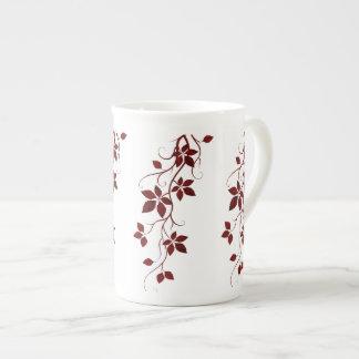 Pretty Red Leaves on the Vine Bone China Mug