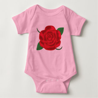 Pretty Red Rose Baby Bodysuit
