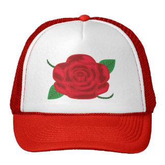 Pretty Red Rose Cap