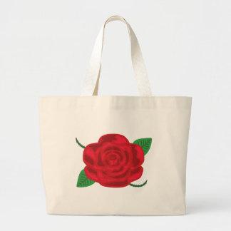 Pretty Red Rose Jumbo Tote Bag