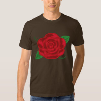 Pretty Red Rose Tee Shirt