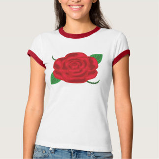 Pretty Red Rose Tees