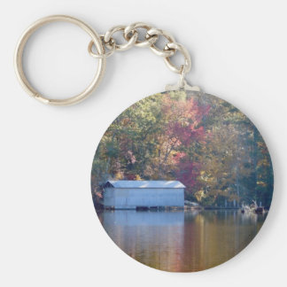 Pretty Reflection - Boathouse by the Water Key Ring
