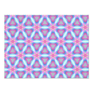Pretty repeating kaleidoscope mandala pattern art photo