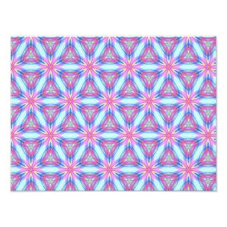 Pretty repeating kaleidoscope mandala pattern photo