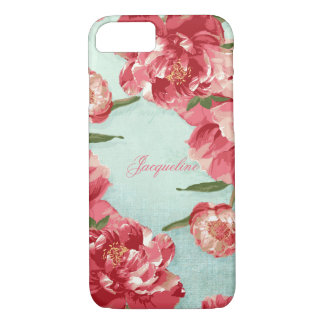 Pretty Retro Flower Elegant Stylish Chintz Peonies iPhone 7 Case