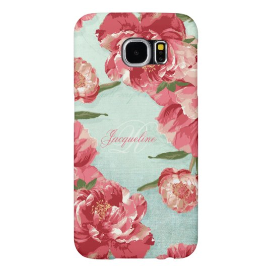Pretty Retro Flower Elegant Stylish Chintz Peonies Samsung Galaxy S6 Cases