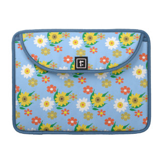 Pretty Retro Inspired Ditsy Floral Design Sleeve For MacBooks