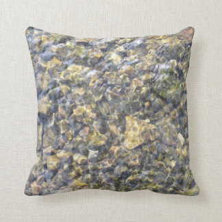 Pretty River Pebbles And Water Cushions