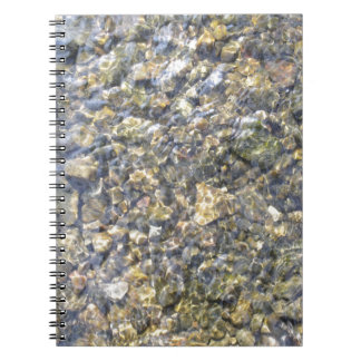 Pretty River Pebbles And Water Spiral Notebook