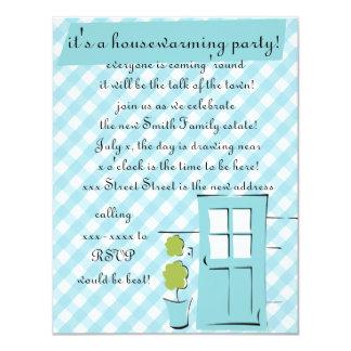 Pretty Robin's Egg Blue Door 11 Cm X 14 Cm Invitation Card