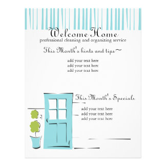 Pretty Robin's Egg Blue Door 21.5 Cm X 28 Cm Flyer