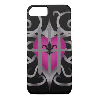 Pretty romantic heart iPhone 8/7 case
