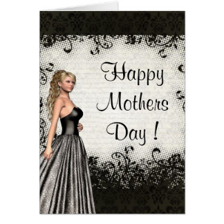 Pretty romantic mothers day card