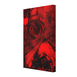 Pretty Romantic Red Rose Abstract Art Design