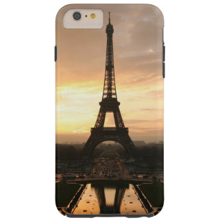 Pretty Romantic Sunset Eiffel Tower Paris France Tough iPhone 6 Plus Case