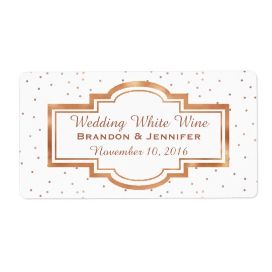 Pretty Rose Gold Custom Wedding Mini Wine Labels