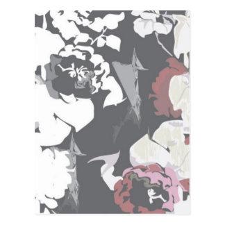 Pretty rose pattern postcard