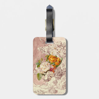Pretty Roses Bag Tag