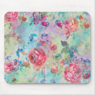 Pretty roses floral paint watercolors design mouse pad