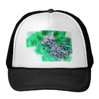 pretty roses mesh hat