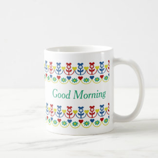 Pretty Rows of Flowers Personalized Coffee Mug