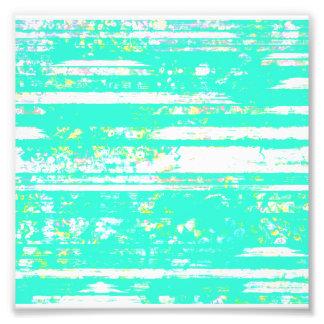 Pretty Rustic Aqua and White Chipped Paint Photo Print
