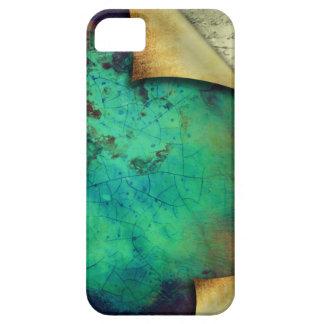 Pretty Rustic Aqua Curling Pages iPhone 5 Case