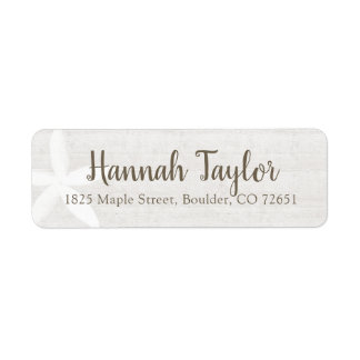 Pretty Rustic Wood Floral Return Address Label