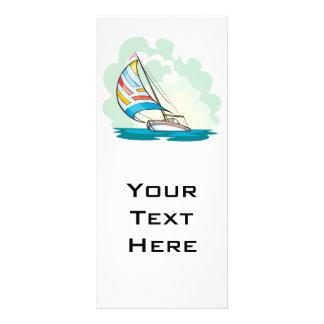 pretty sailboat sailing in the sea 10 cm x 23 cm rack card