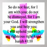 PRETTY SCRIPTURE ISAIAH 41:10 DESIGN POSTER