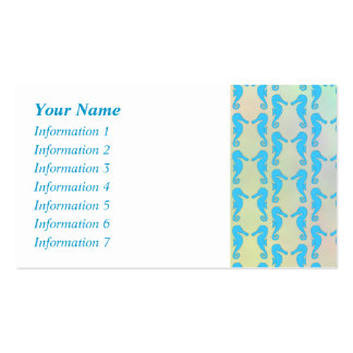 Pretty Seahorse Pattern Blue and Pastel Multi Business Card Templates