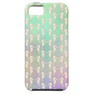 Pretty Seahorse Pattern in Pastel Colors iPhone 5 Case