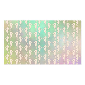 Pretty Seahorse Pattern in Pastel Colors Pack Of Standard Business Cards