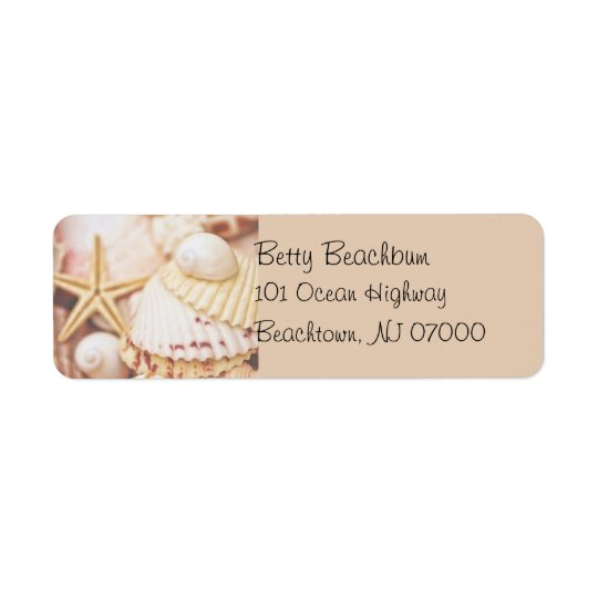 Pretty Seashell Address Labels