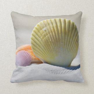 """Pretty Seashells Polyester Throw Pillow 16"""" x 16"""
