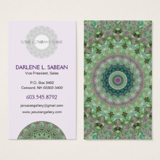 "Pretty ""Seasons: Spring"" Mandala Kaleidoscope Business Card"