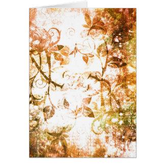 Pretty Sepia Rose Vine Vintage Victorian Flourish Greeting Card